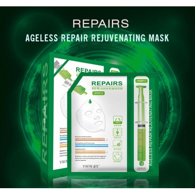 Ageless Repair Rejuvenating Silk Sheet Face Mask Hot Sale Beauty Anti-Wrinkle Deep Dry Smoothing Sleeping Facial Mask